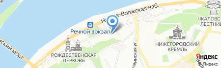 Метикс-НН на карте Нижнего Новгорода
