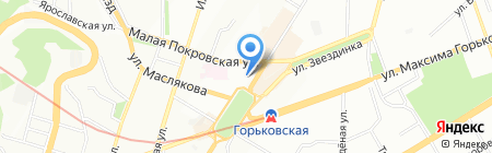 Red NEXT на карте Нижнего Новгорода