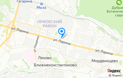 Местоположение на карте пункта техосмотра по адресу г Нижний Новгород, ул Ларина, д 12