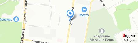 Автоконтакт на карте Нижнего Новгорода