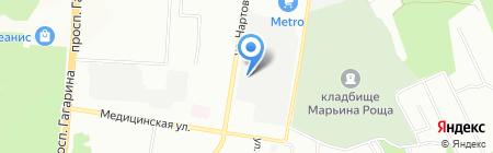 Форпост на карте Нижнего Новгорода