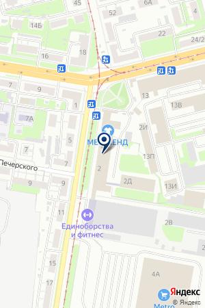 МЕБЕЛЬНЫЙ МАГАЗИН КАМИН на карте Нижнего Новгорода