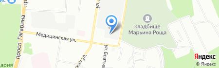 Электродеталь на карте Нижнего Новгорода