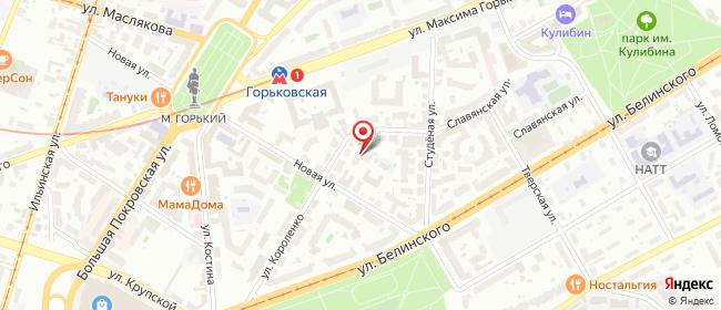 Карта расположения пункта доставки Нижний Новгород Славянская в городе Нижний Новгород