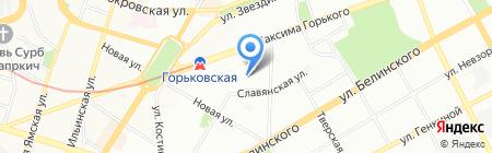 Изумрудный замок на карте Нижнего Новгорода