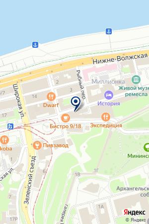 КАФЕ НИЖНИЙ ПАСАДЪ на карте Нижнего Новгорода