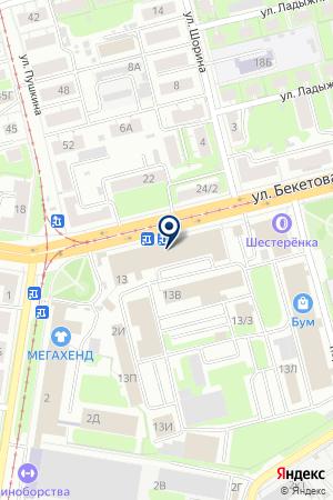 МЕБЕЛЬНЫЙ САЛОН ОАЗИС на карте Нижнего Новгорода