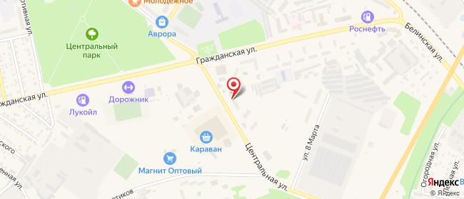 Карта расположения пункта доставки СИТИЛИНК в городе Каменка
