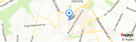 Центр предпринимательства на карте Нижнего Новгорода