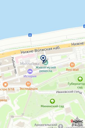 ТЕХМОНТАЖ на карте Нижнего Новгорода