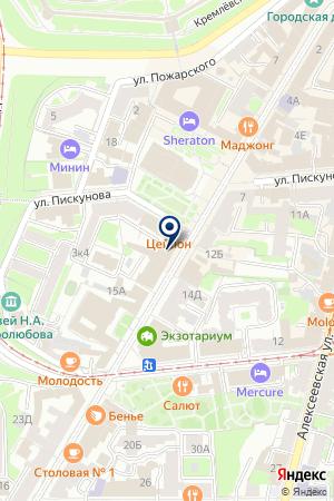 СУ ЖИЛСТРОЙРЕСУРС на карте Нижнего Новгорода