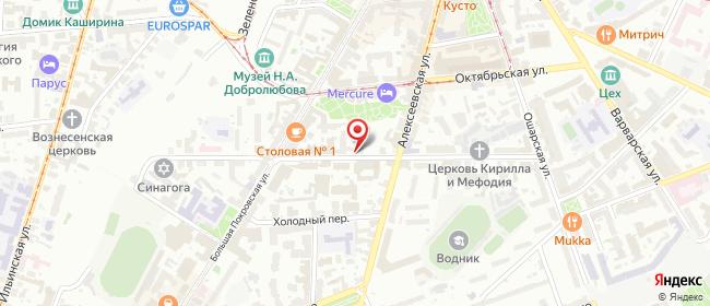 Карта расположения пункта доставки Пункт выдачи в городе Нижний Новгород