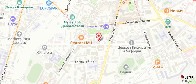 Карта расположения пункта доставки Нижний Новгород Грузинская в городе Нижний Новгород