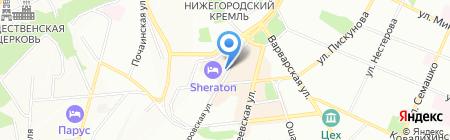 Чайный пьяница на карте Нижнего Новгорода