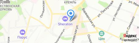 Тарелкин на карте Нижнего Новгорода