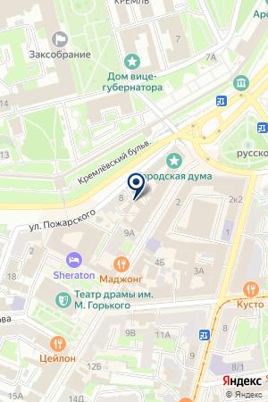 ТУРИСТИЧЕСКАЯ КОМПАНИЯ АССОЛЬ ТРЭВЭЛ на карте Нижнего Новгорода