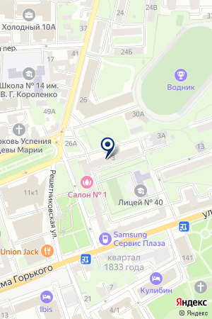 МАРКИЗА на карте Нижнего Новгорода