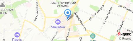 Изумруд на карте Нижнего Новгорода