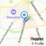 Шустрый шмэль на карте Нижнего Новгорода