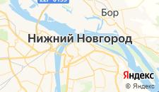Гостиницы города Нижний Новгород на карте