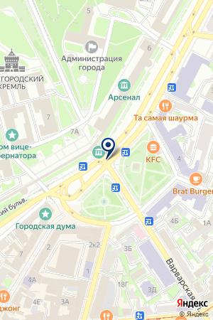 ТФ НОРД-ВЕСТ на карте Нижнего Новгорода