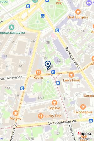 ПОСУДА на карте Нижнего Новгорода