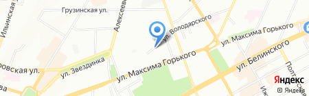 Орбита на карте Нижнего Новгорода