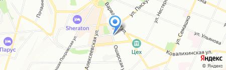 Тузик на карте Нижнего Новгорода