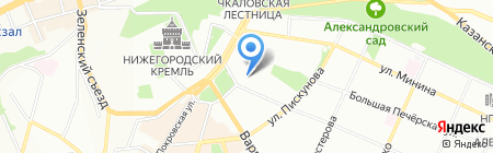 Айфон-НН на карте Нижнего Новгорода