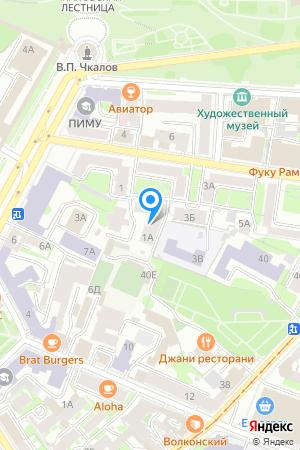 Дом 1А по ул. Минина на Яндекс.Картах