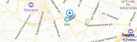 Дионис Тур на карте Нижнего Новгорода
