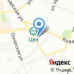Милана на карте Нижнего Новгорода