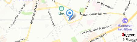 Доска для мела на карте Нижнего Новгорода