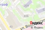 Схема проезда до компании Ателье №1 в Нижнем Новгороде