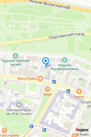 Дом 10В по ул. Минина на Яндекс.Картах