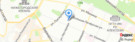 Тари-Интур на карте Нижнего Новгорода