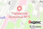Схема проезда до компании Городской кардиологический диспансер в Нижнем Новгороде