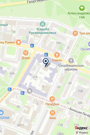 ОХРАННОЕ ПРЕДПРИЯТИЕ СВ-ОКО на карте Нижнего Новгорода