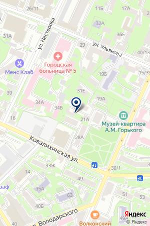 СТРОИТЕЛЬНАЯ КОМПАНИЯ СОЮЗ на карте Нижнего Новгорода
