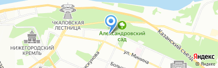Британский Страховой Дом на карте Нижнего Новгорода