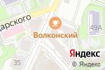Схема проезда до компании Либерти в Нижнем Новгороде