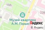 Схема проезда до компании Музей-квартира А.М. Горького в Нижнем Новгороде
