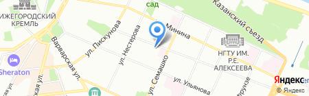 Холидей Тур на карте Нижнего Новгорода