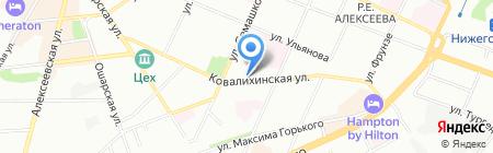 Кирилловский на карте Нижнего Новгорода