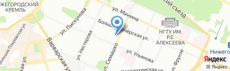 Юна на карте Нижнего Новгорода