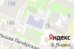 Схема проезда до компании Гимназия №13 в Нижнем Новгороде