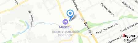 Гентек на карте Нижнего Новгорода