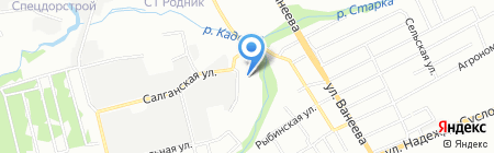Диалог авто на карте Нижнего Новгорода