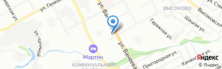 Магазин косметики на ул. Ванеева на карте Нижнего Новгорода