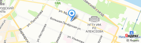 Ауданн на карте Нижнего Новгорода